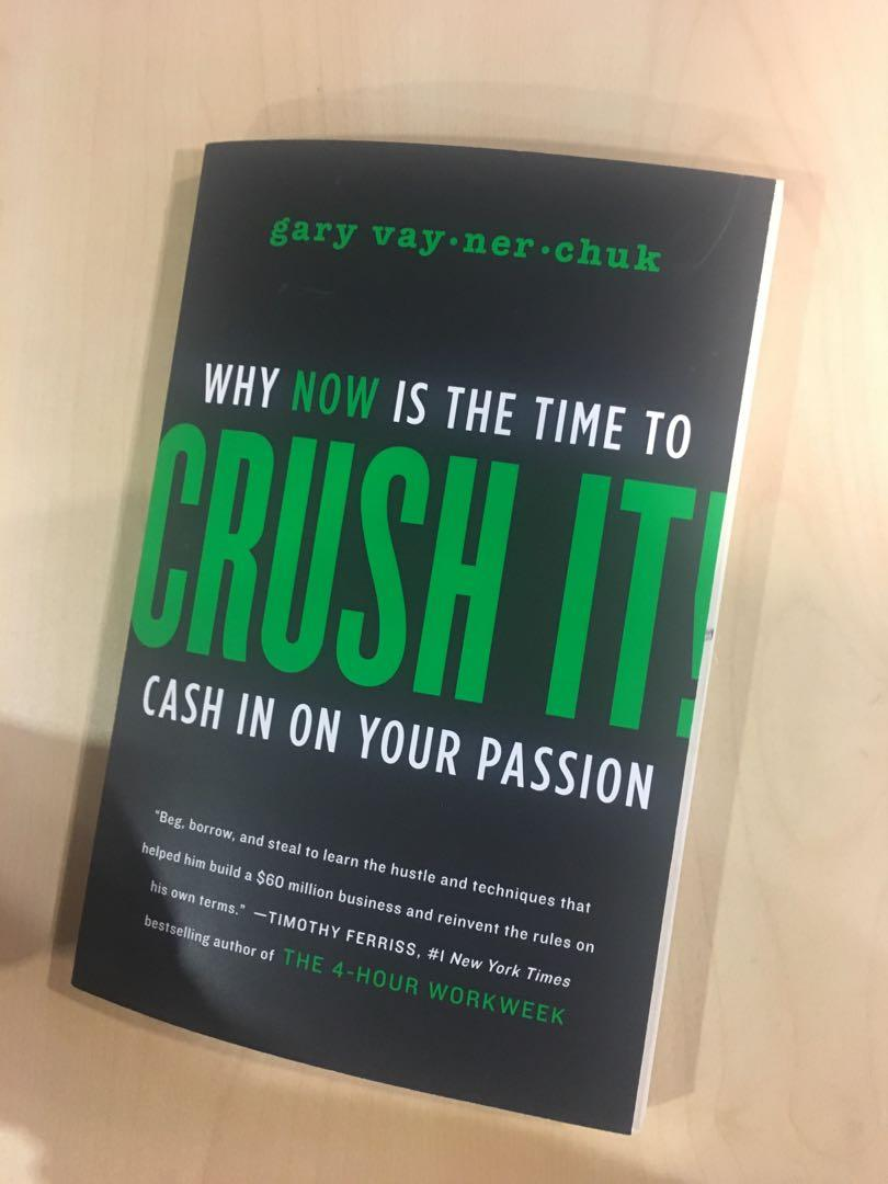 "Gary Vee Signed Book ""Crush It"""