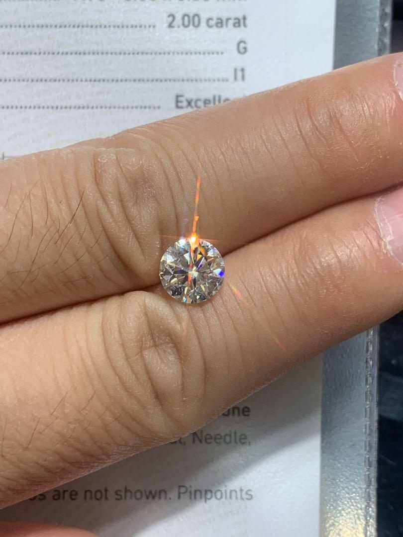 GIA: 2.00ct G-I1(Top) 3exnone 🔥✨💎 $92800👍🌟✨💫