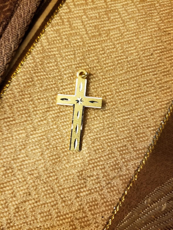 金色十字架一個gold plated