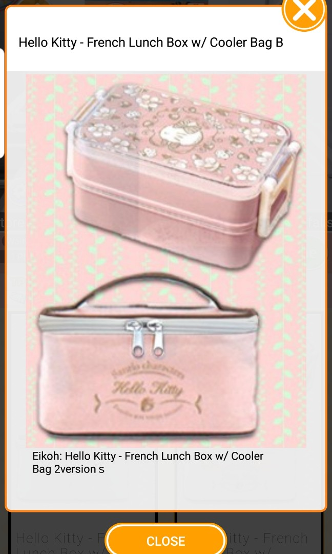 Hello Kitty French Lunchbox with Bag