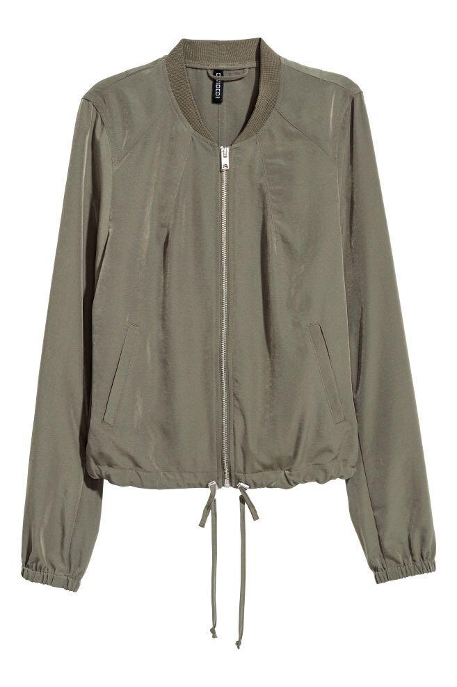 H&M Army Green Bomber Jacket