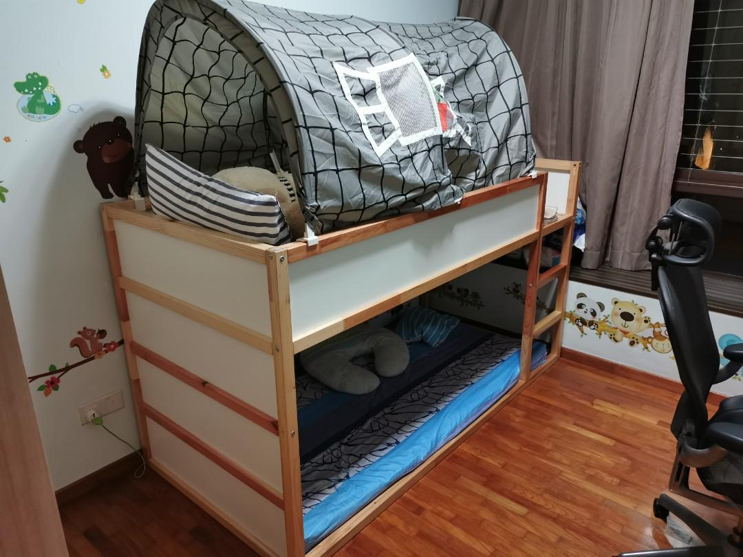 Ikea Kura Bed Frame With Canopy Children S Double Bunk Furniture Beds Mattresses On Carousell