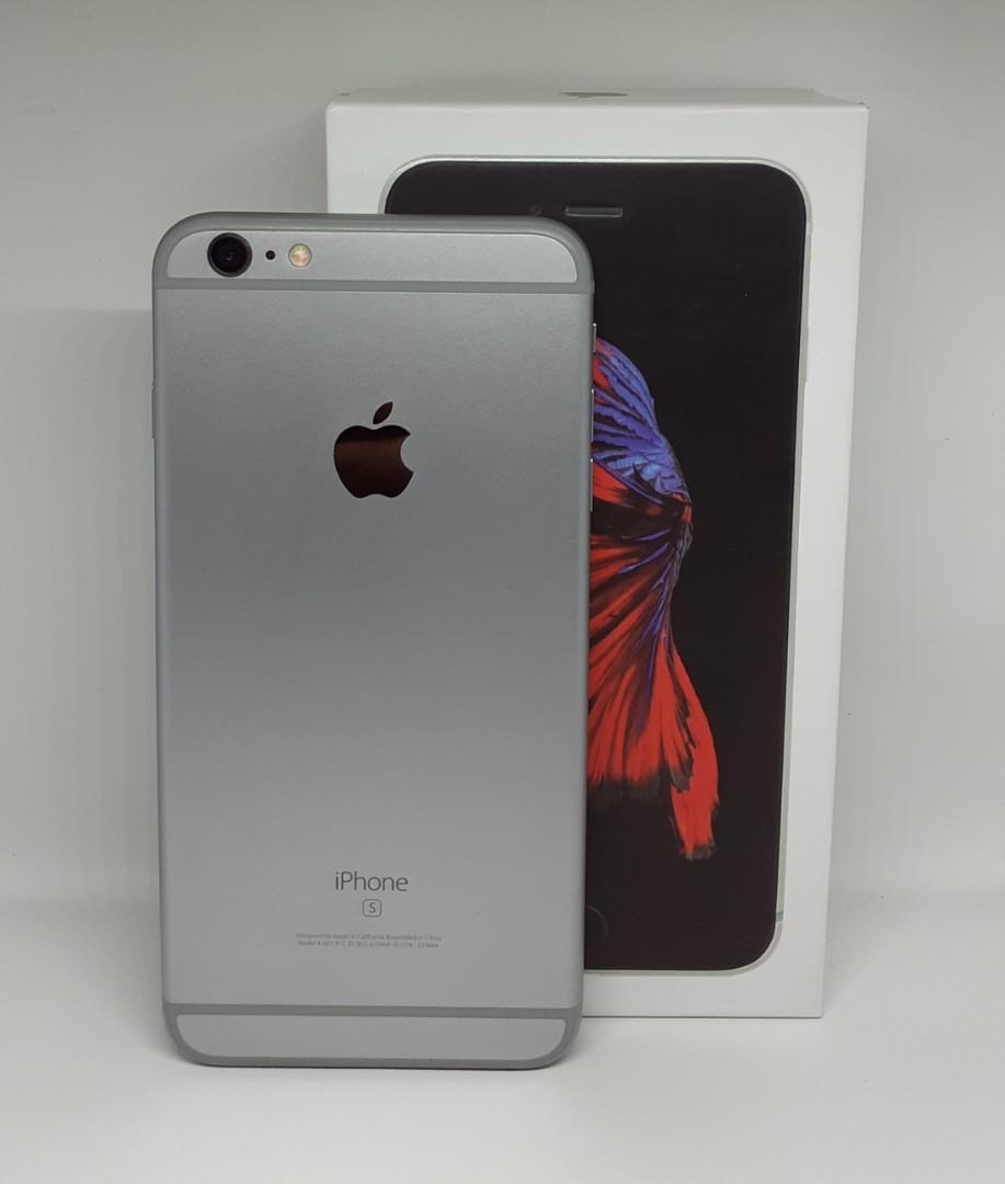 Iphone 6s+ Plus Space Gray 64GB LL/A Fullset Mulus Terawat