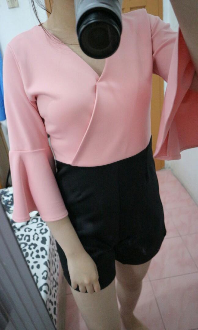 Jumpsuit pink hitam