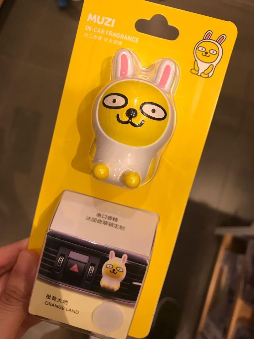 Kakao Friends Apeach Muzi Ryan 汽車 香薰 造型 cute 夾 岀風口 車内用 裝飾 佈置