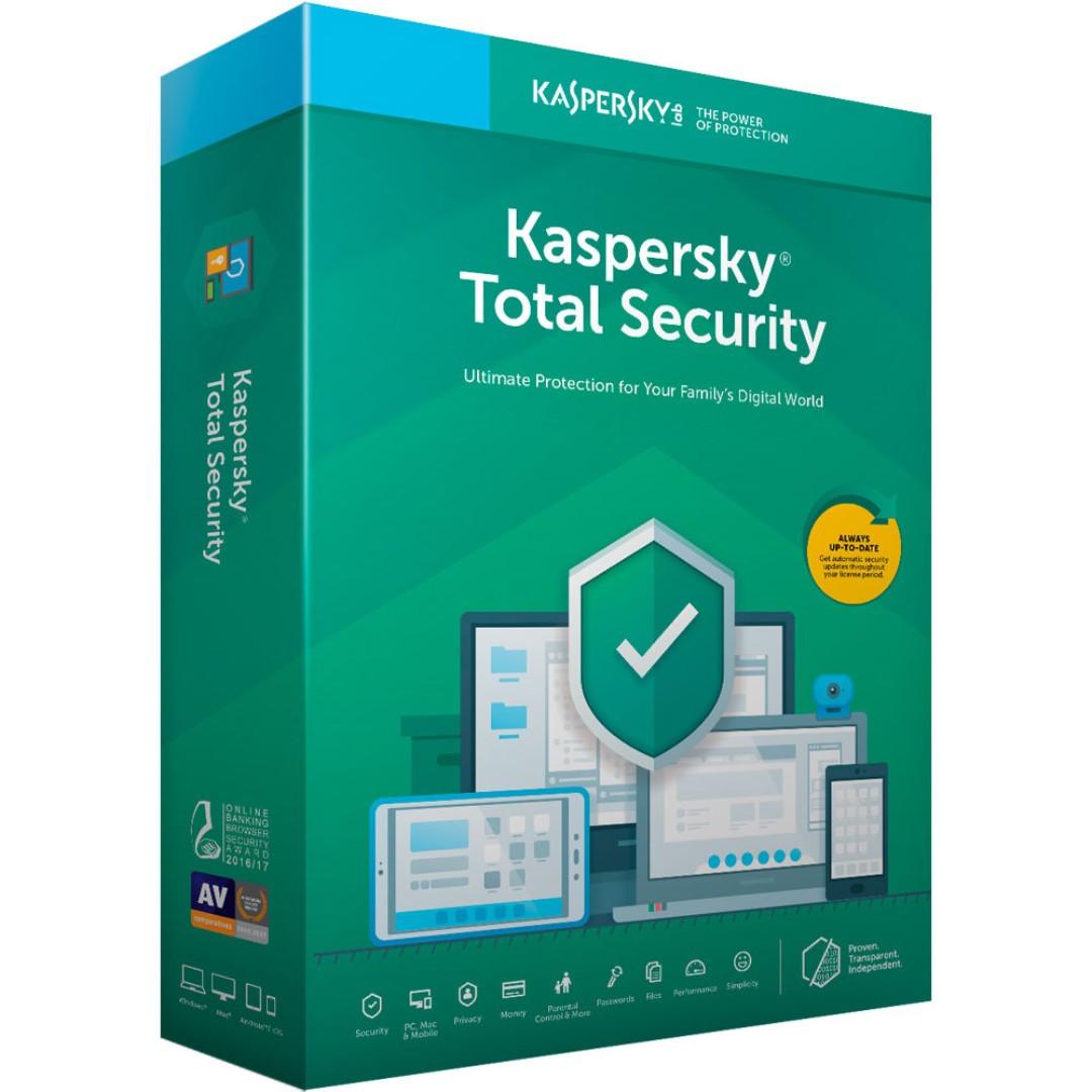 Kaspersky Total Security Antivirus 2019 - 1 Device 1 Year