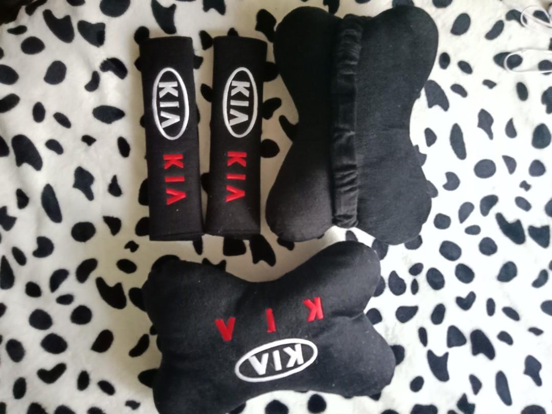 KIA Head Rest & Belt Cover Set
