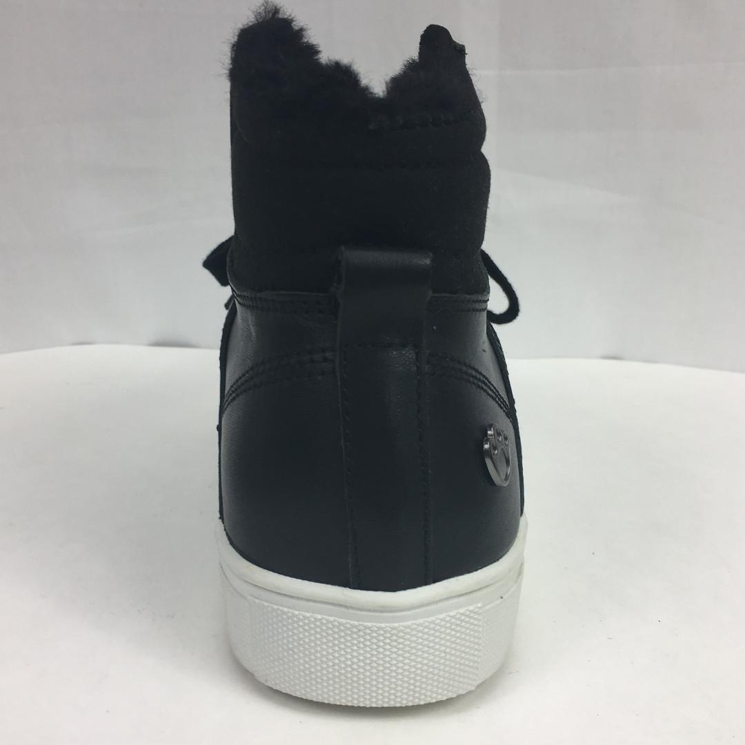 Koalabi Starnie genuine leather Lace Up Sheepskin Sneakers BLACK size 9