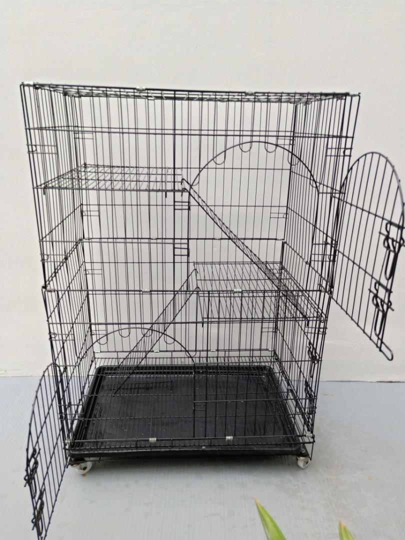LARGE 3 TIER CAT CAGE
