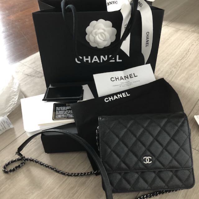 279d98fbc029 Like New Chanel Square WOC, Luxury, Bags & Wallets on Carousell
