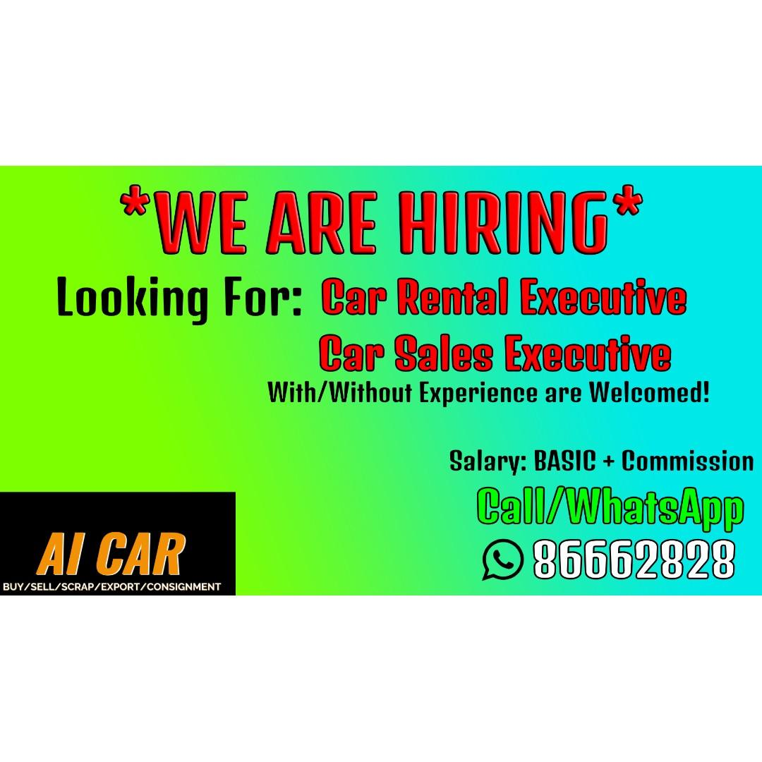Looking for Car Rental Executive & Car Sales Executive