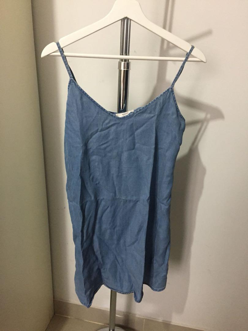 MANGO denim dress