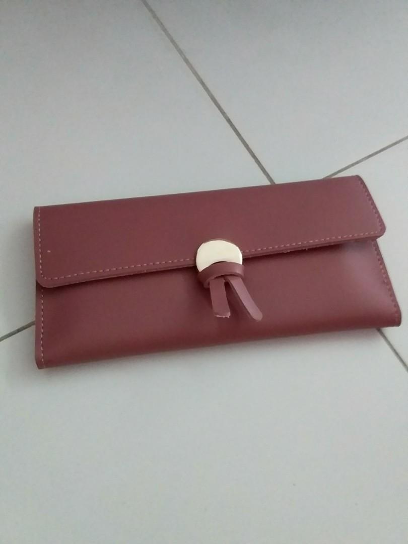 Maroon long wallet