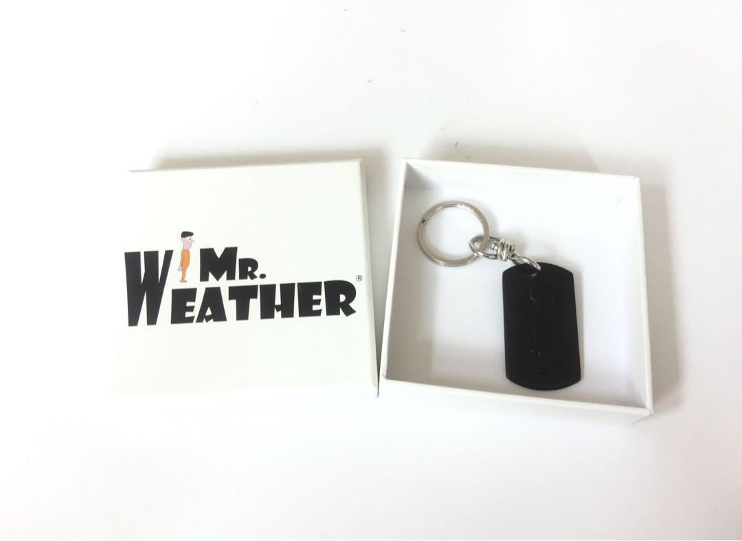 Mr Weather limited edition keychain - black