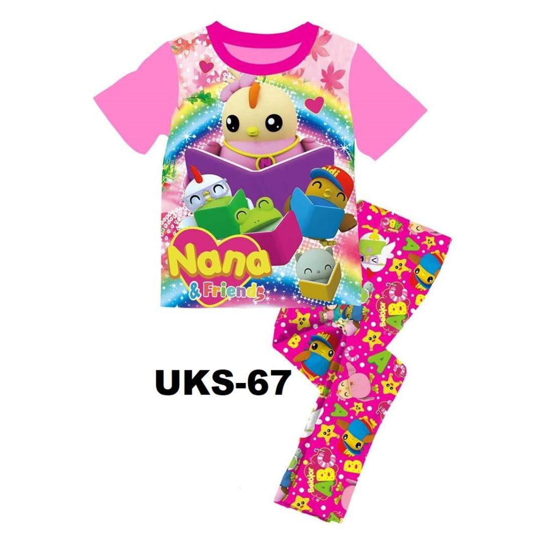Nana Short Short Sleeve Pyjamas for 2 to 7 yrs old