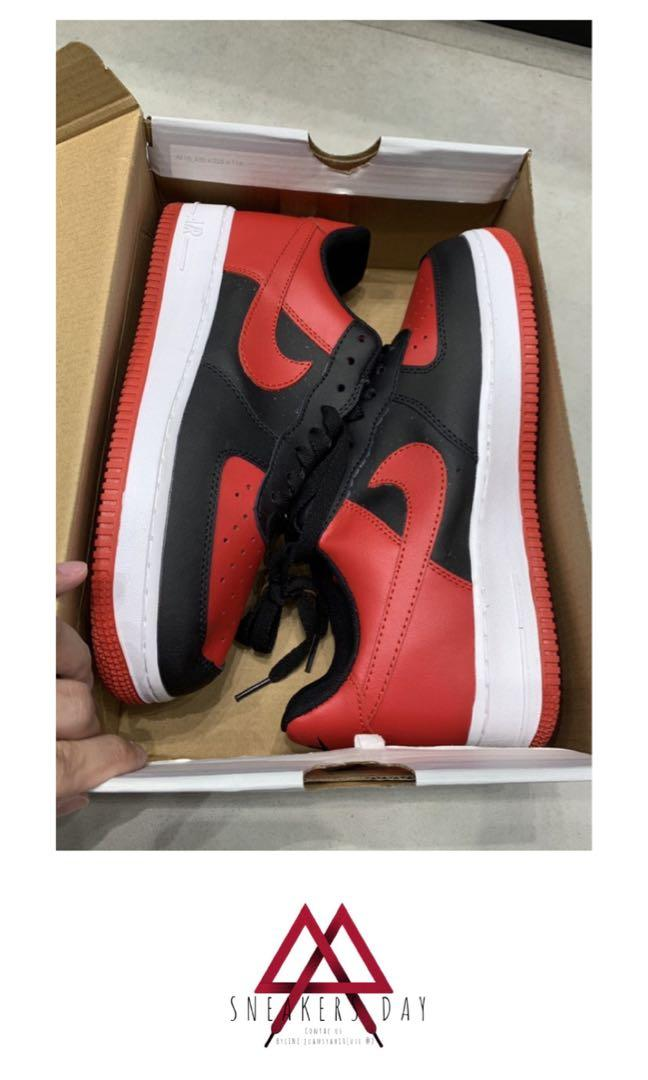 Nike Air Force 1 GS Bred Black Red BNIB PERFECT PAIRS