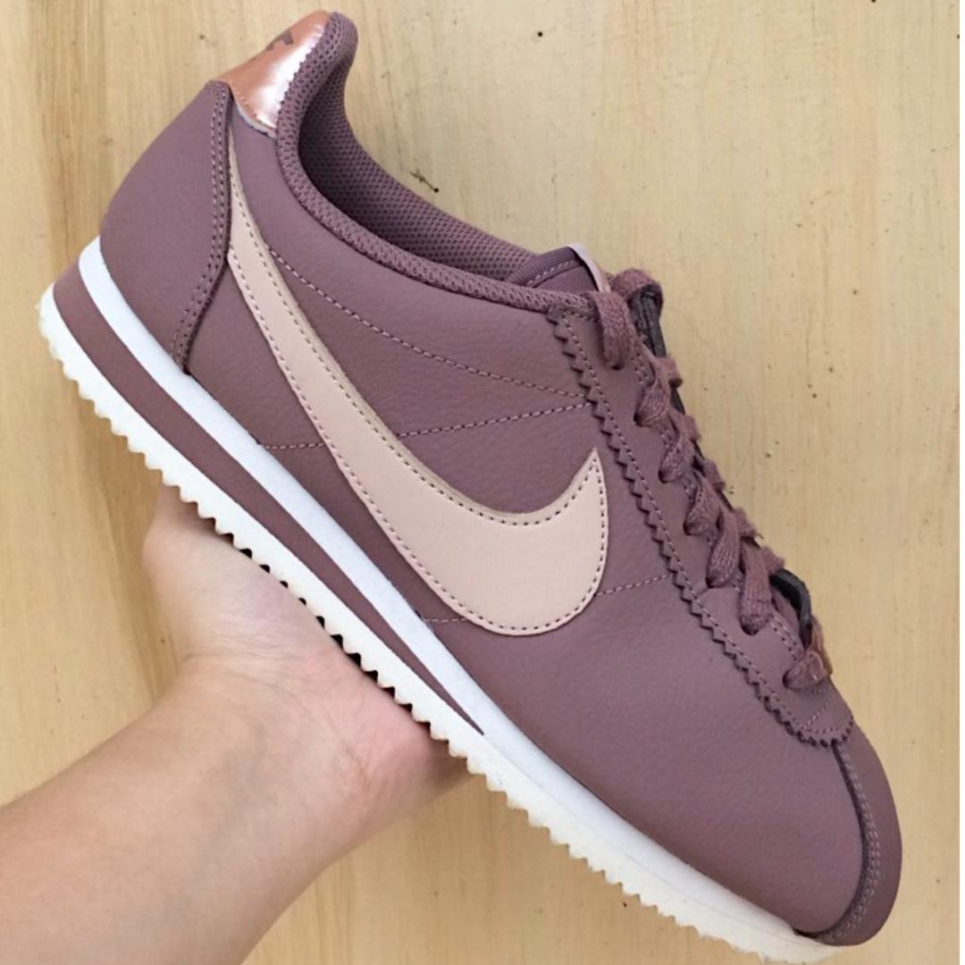 new product 3a6a4 955b5 Nike Cortez Leather (Smokey Mauve/Particle Beige) on Carousell
