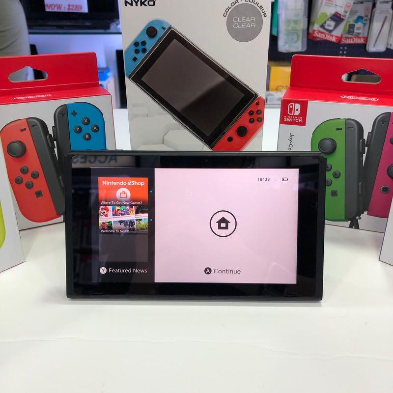 Nintendo Switch Bundle Promotion w/ BN Joycon color of your choice, X1 BN Game of your choice, Nyko Thin Case x1 & Tempared Glass @ $389 ONLY!!!!