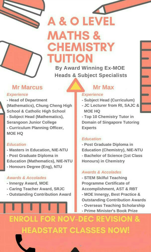 O & A level & IP Chemistry & Math Specialist Tuition