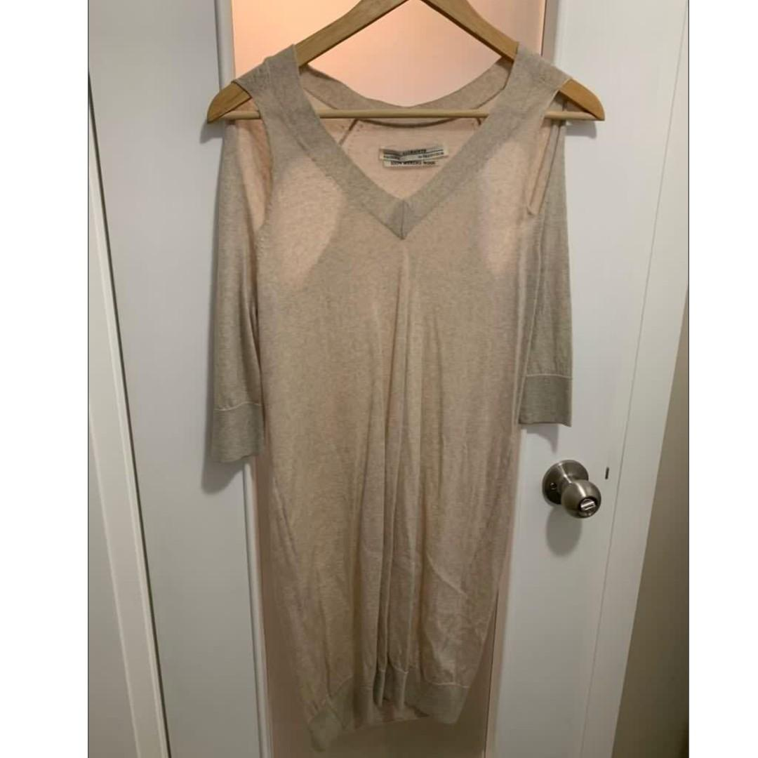 OATMEAL All Saints Kadarei Sweater Dress size US 4