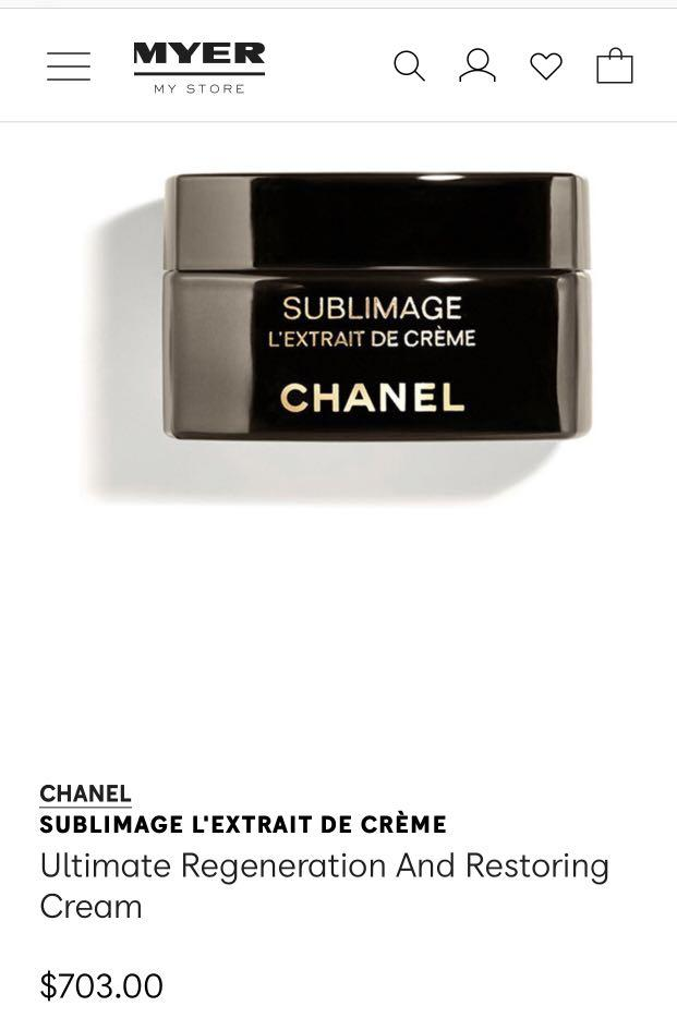 Original Chanel sublimage L'Extrait De Creme RRP $703
