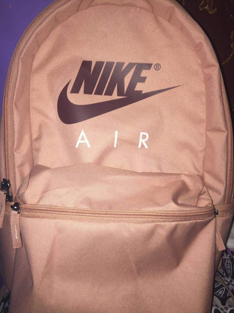 d0a4148f901cb original nike air backpack (rose gold) on Carousell