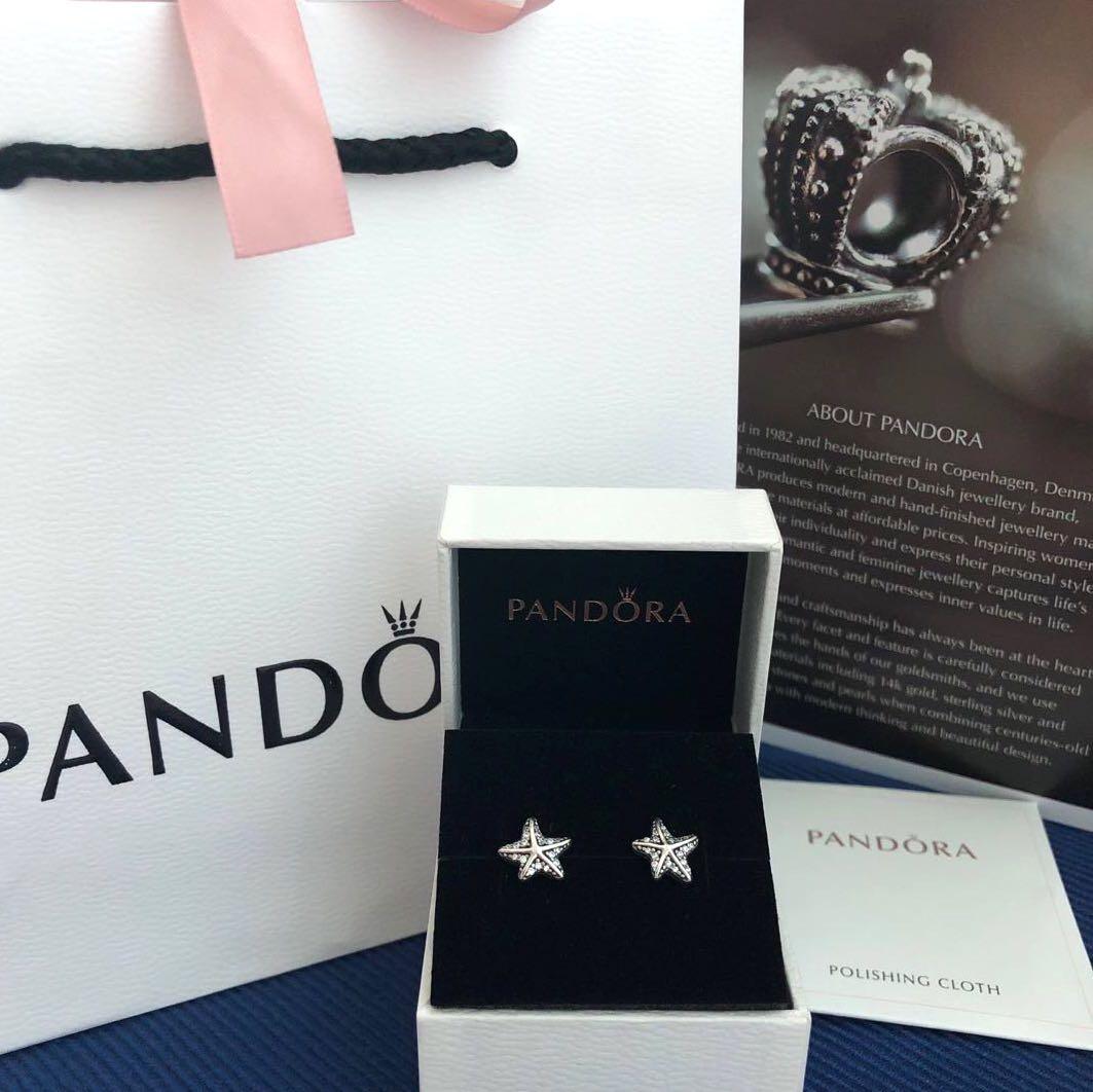 44428491f PANDORA Tropical Starfish Earring Studs, Women's Fashion, Jewellery,  Earrings on Carousell