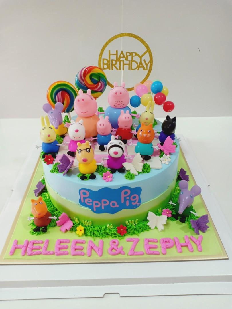 Excellent Peppa Pig Birthday Cake Food Drinks Baked Goods On Carousell Personalised Birthday Cards Arneslily Jamesorg