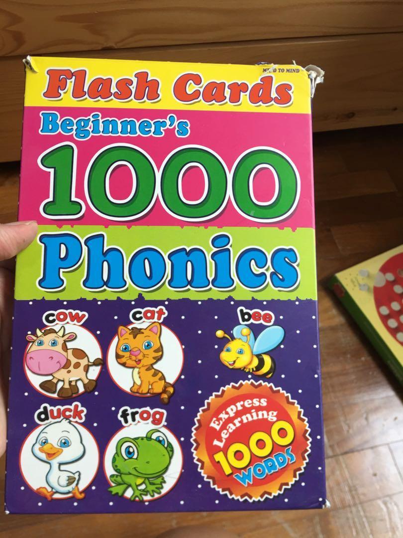Phonics Flash Cards - 1000 words
