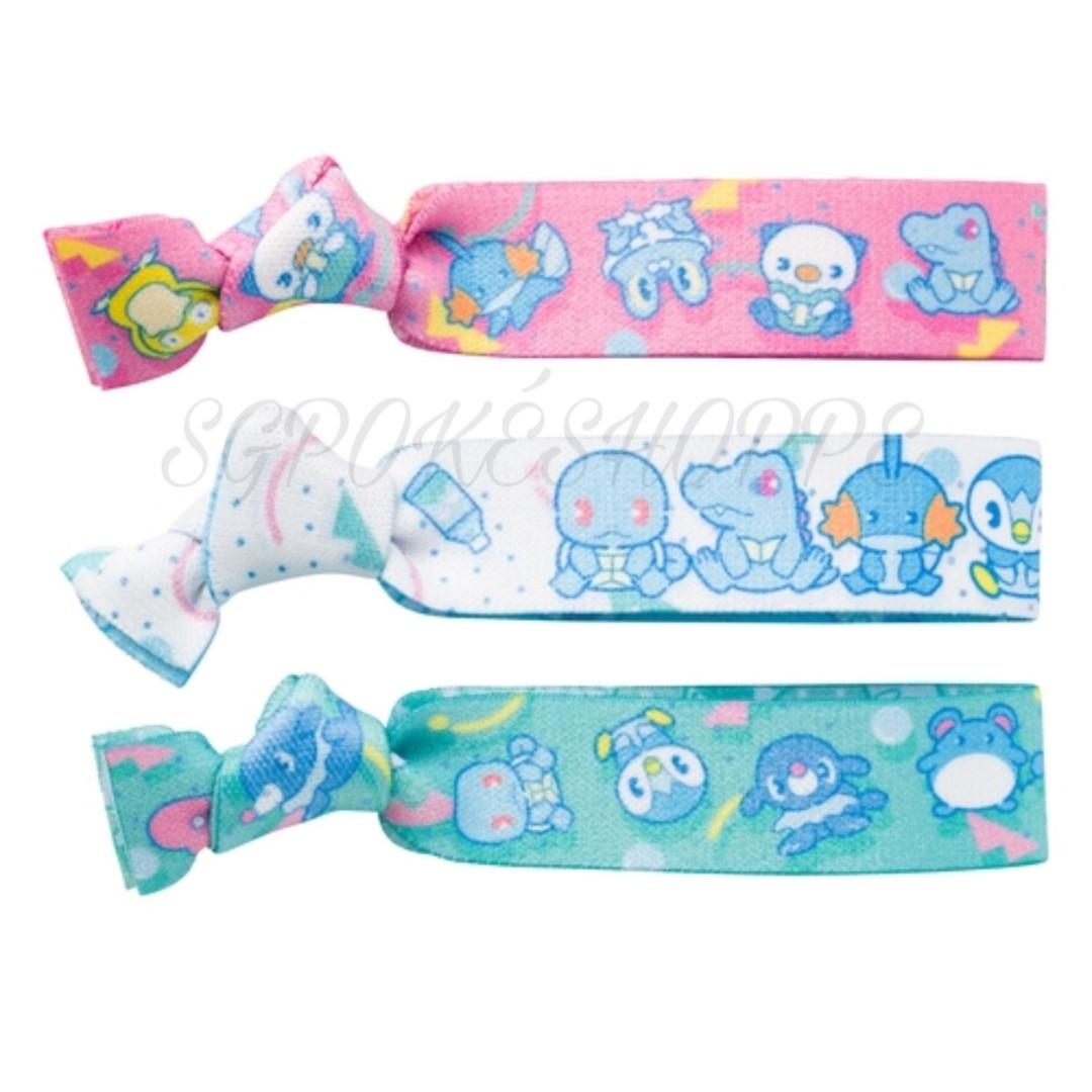 [PO] HAIR TIE SET [DELICIOUS WATER] - POKEMON CENTER EXCLUSIVE