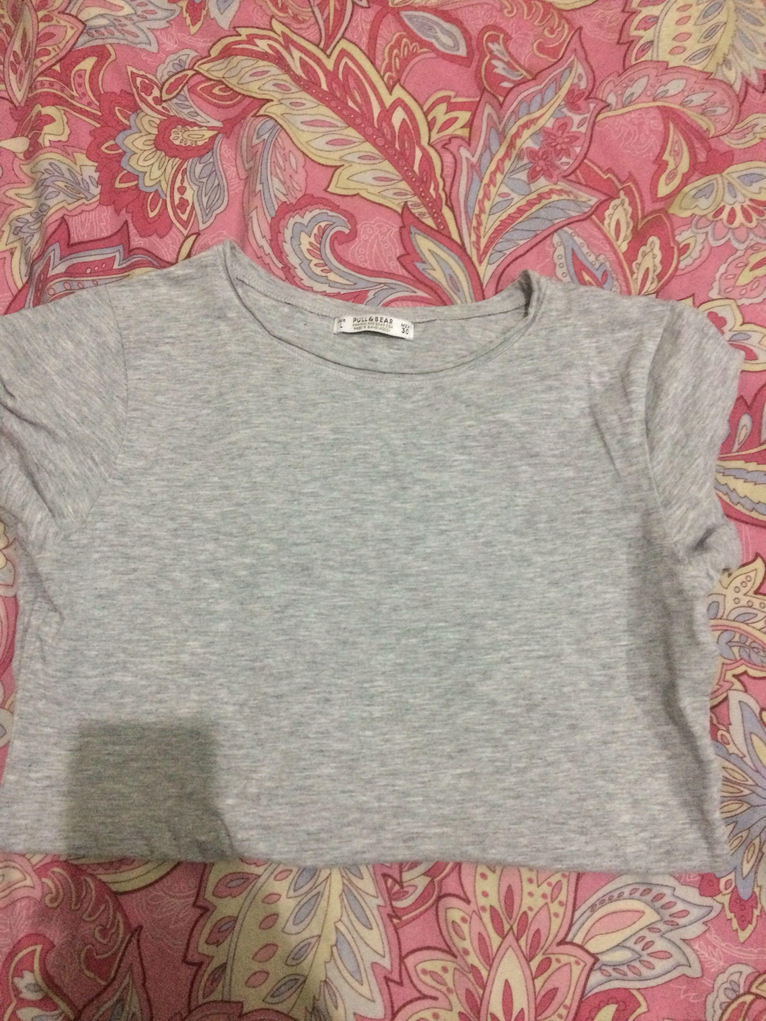 Pull & bear grey tshirt