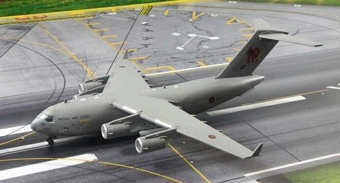 RAF 皇家空軍C17運輸機 1/200 模型