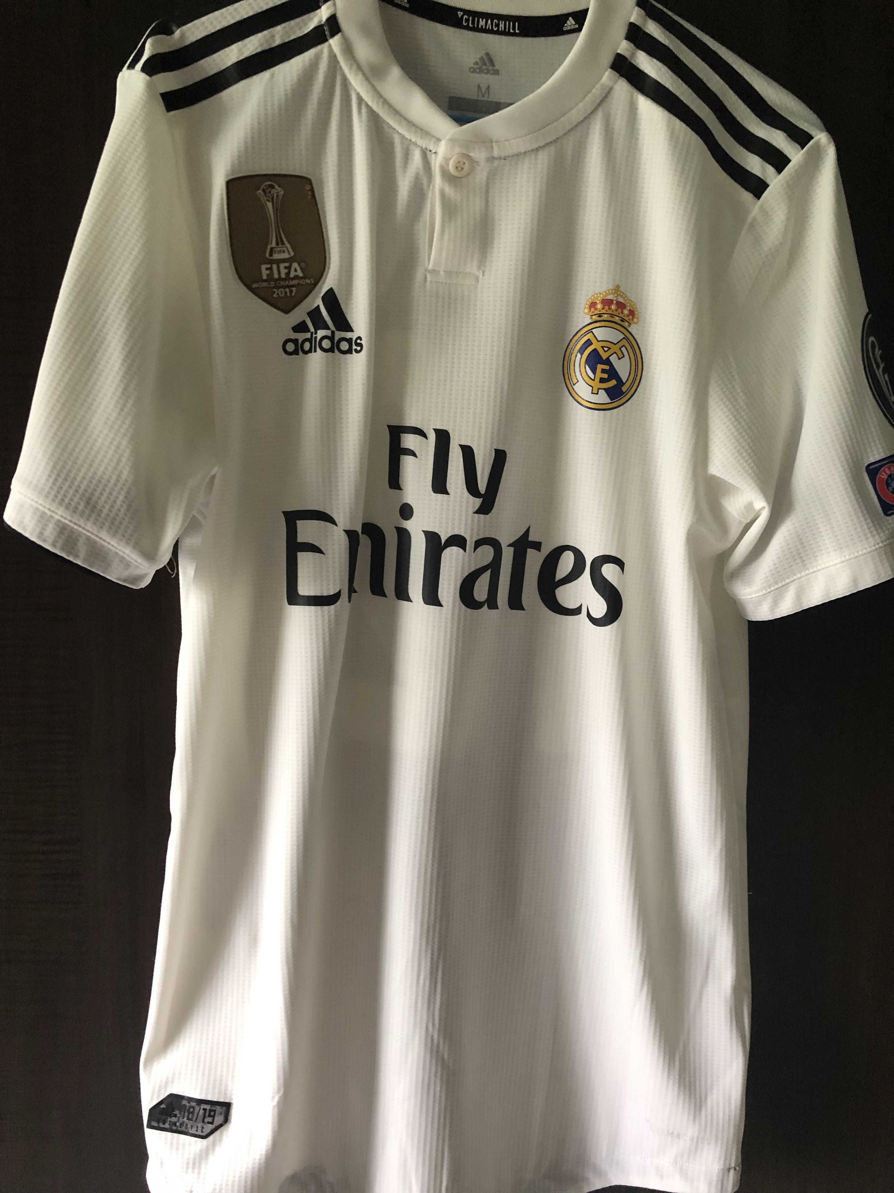 3e80453123e Real Madrid Jersey authentic Marcelo 12 with UCL badge, Sports, Sports  Apparel on Carousell