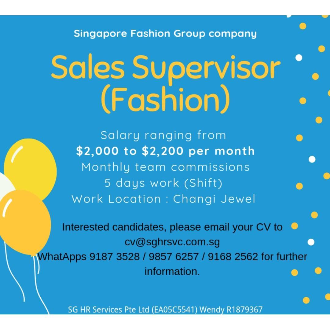 Sales Supervisor Fashion