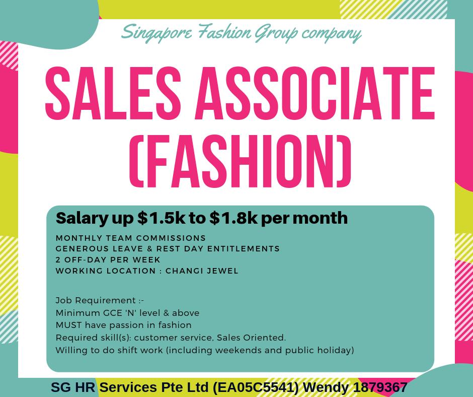 Sales Associate Fashion - Changi Jewel