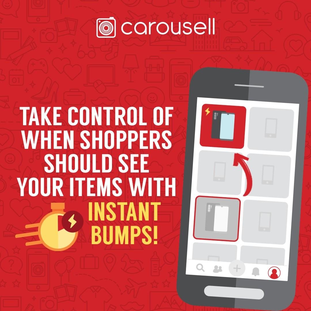 Take control of when shoppers should see your items with Instant Bumps!