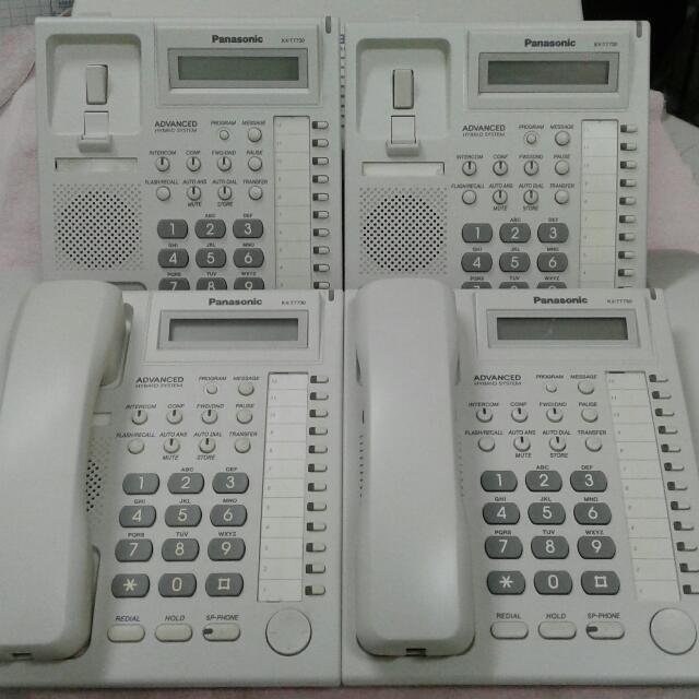 國際牌總機TES824主機含四台話機