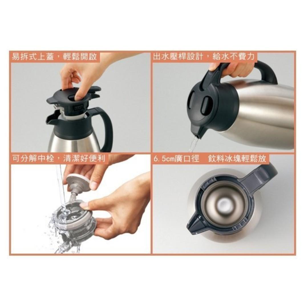【黑皮TIME】ZOJIRUSHI象印-桌上型不銹鋼保溫瓶1.9L(SH-HB19-XA,專櫃正品)