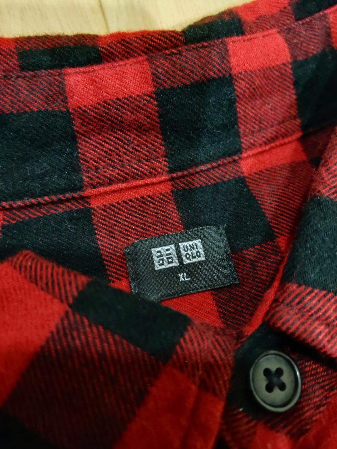 Uniqlo Red & Black checked flannel