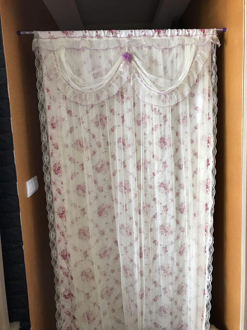 Victorian Door Curtain, Furniture, Home Decor, Cushions U0026 Linen On Carousell