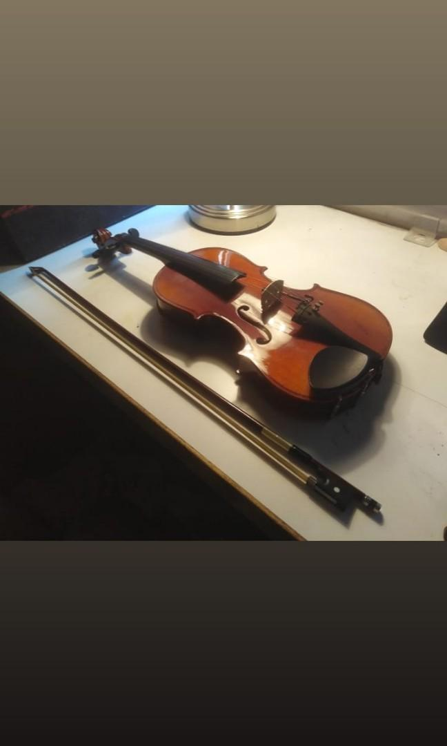 Violin with bag cover