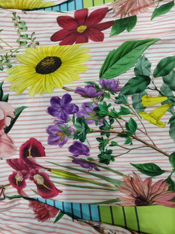 Zara Flower dress Gaun bunga garis garis #mauthr