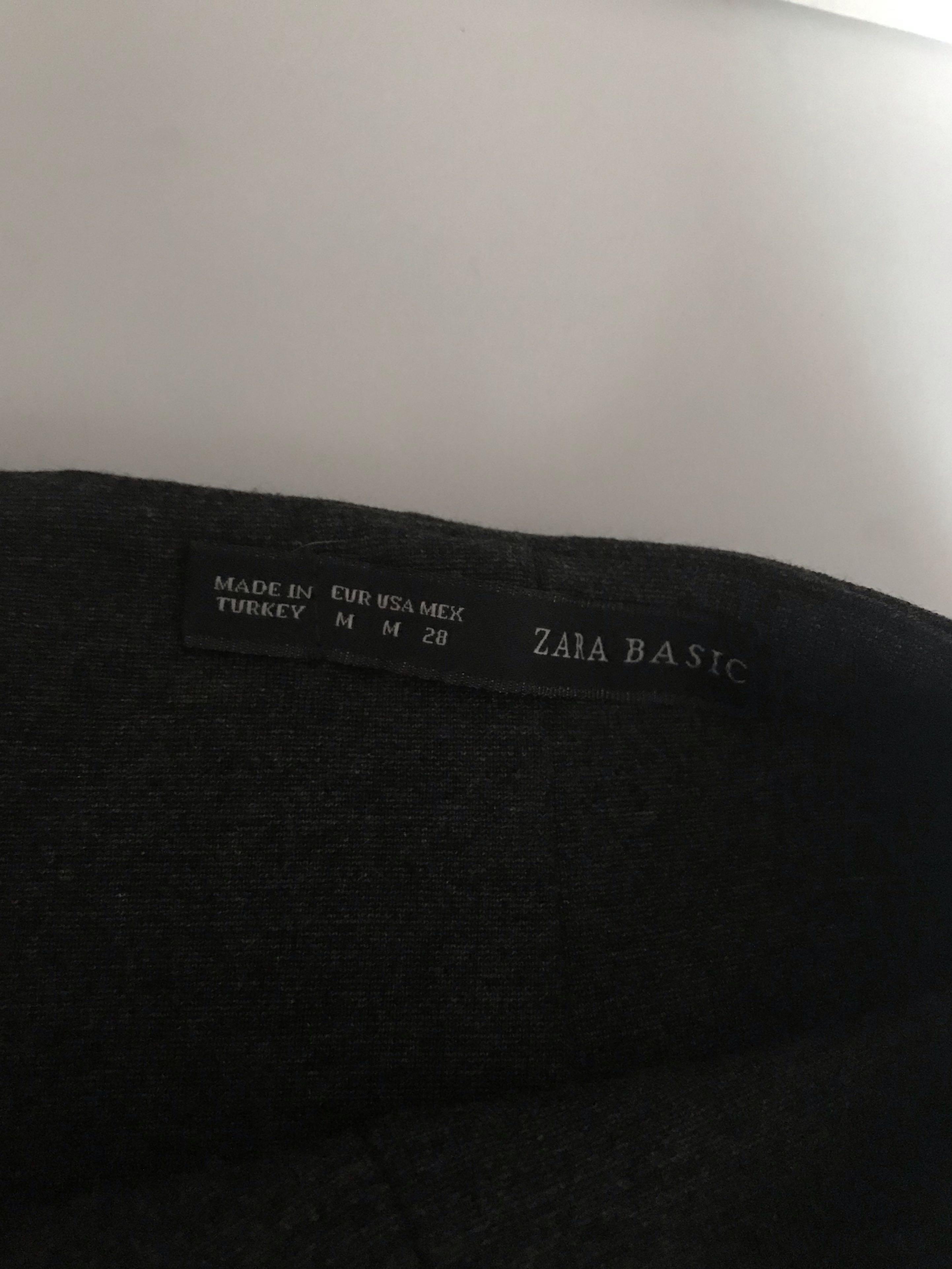 ZARA Classic Dark Grey Work Pencil Skirt #mauvivo