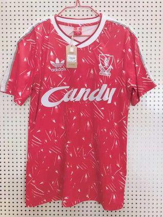 RETRO Liverpool candy jersey Liverpool jersey 89-91 Liverpool kit vintage Liverpool kit Liverpool throwback jersey