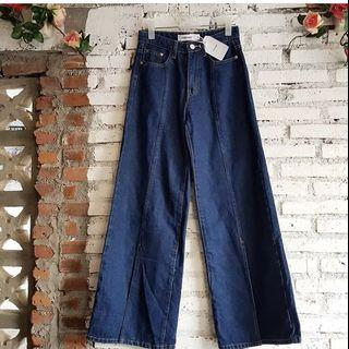 #bapau REPRICE denim slit pants the editor's market kendra