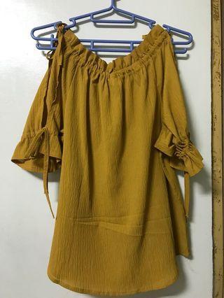 薑黃色二穿上衣