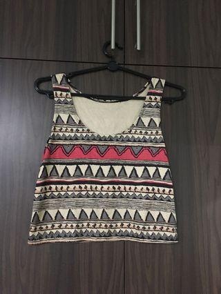 🚚 Tribal sleeveless Crop Top