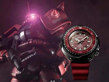 全新 Seiko x gundam SLA029J1 渣古 SLA031J1 紅彗星 一套出售