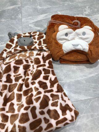 Animals fleece blanket