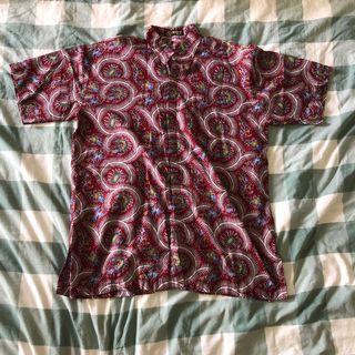 🚚 vintage oversized batik short sleeved shirt